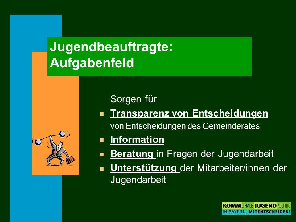 Jugendbeauftragte: Aufgabenfeld