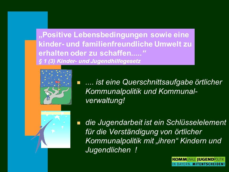 """""""Positive Lebensbedingungen sowie eine kinder- und familienfreundliche Umwelt zu erhalten oder zu schaffen..... § 1 (3) Kinder- und Jugendhilfegesetz"""