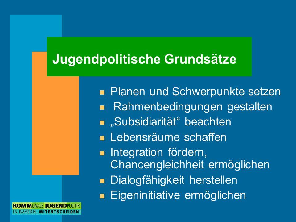 Jugendpolitische Grundsätze