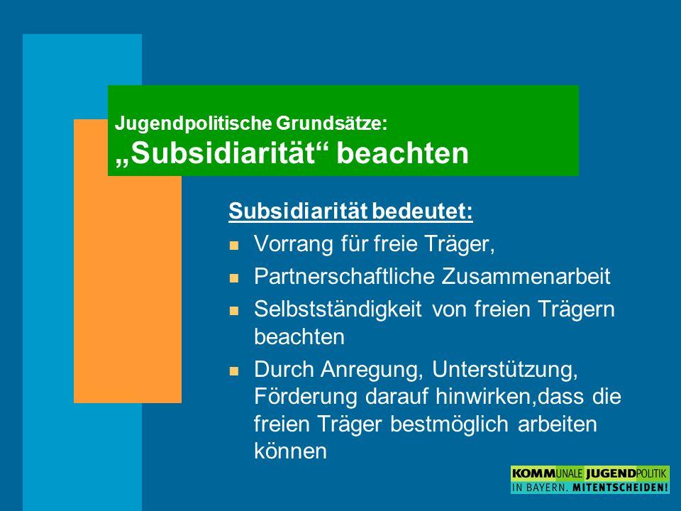 """Jugendpolitische Grundsätze: """"Subsidiarität beachten"""