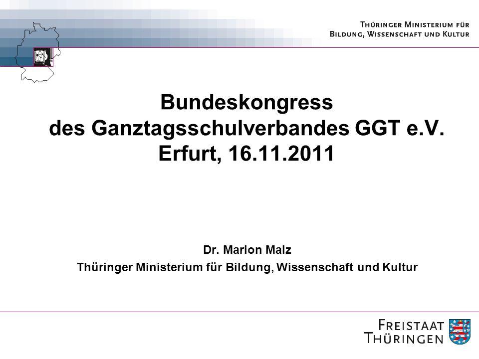 Bundeskongress des Ganztagsschulverbandes GGT e.V. Erfurt, 16.11.2011
