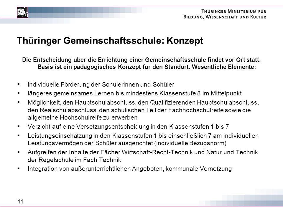 Thüringer Gemeinschaftsschule: Konzept