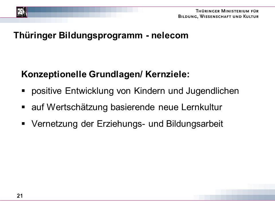 Thüringer Bildungsprogramm - nelecom