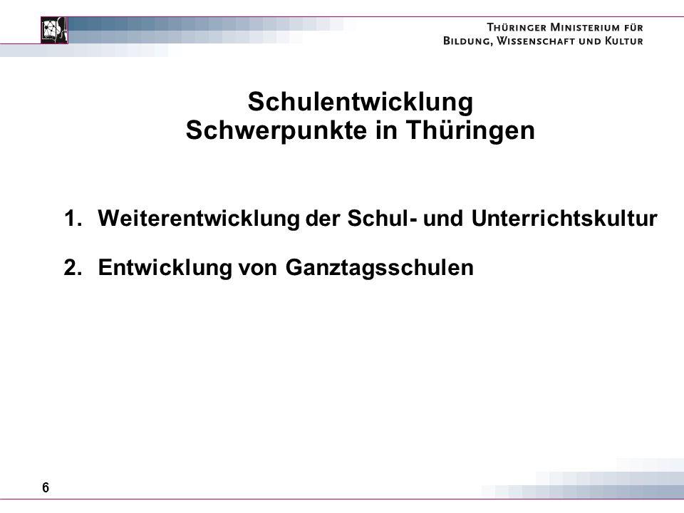 Schwerpunkte in Thüringen
