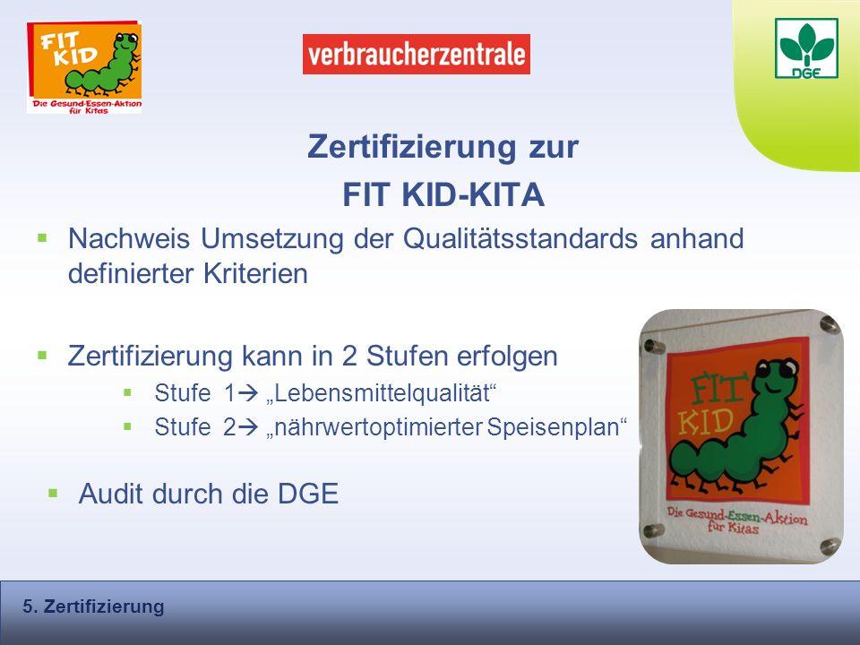 Zertifizierung zur FIT KID-KITA