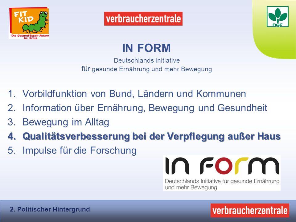 Deutschlands Initiative für gesunde Ernährung und mehr Bewegung