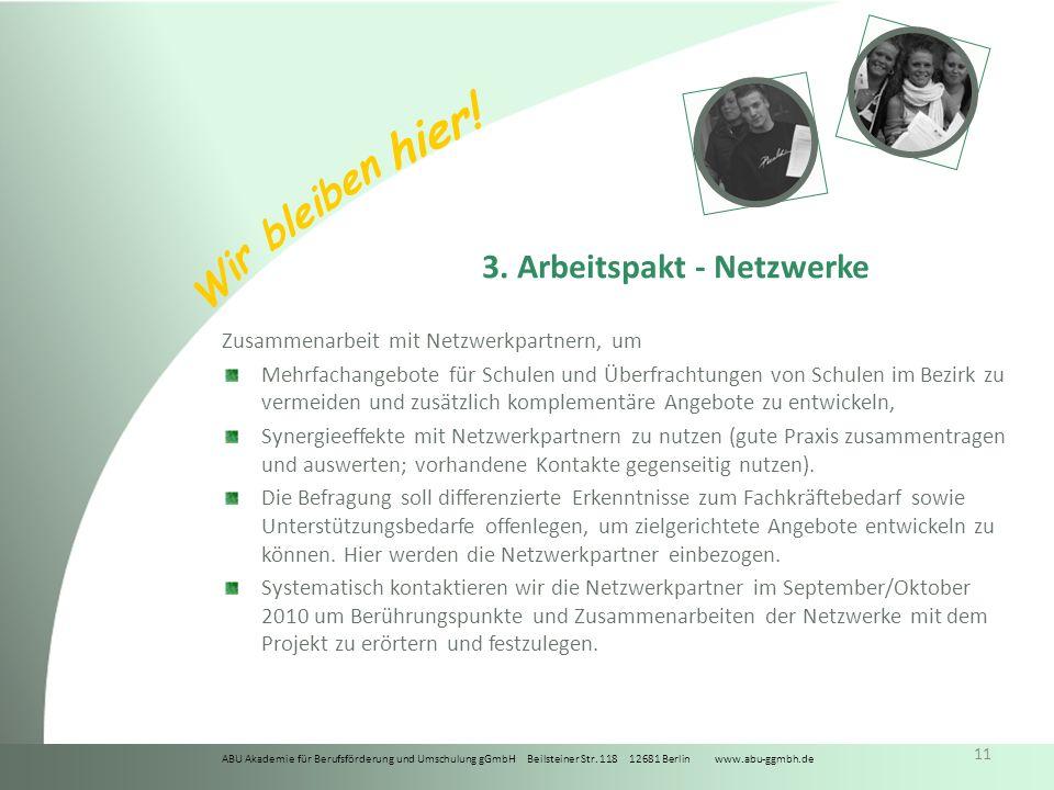 3. Arbeitspakt - Netzwerke