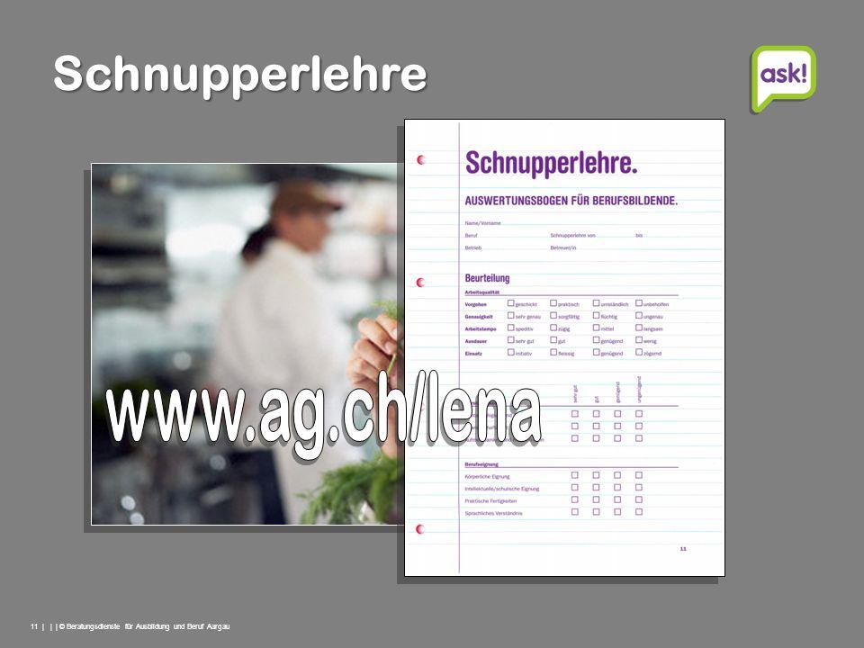 Schnupperlehre www.ag.ch/lena