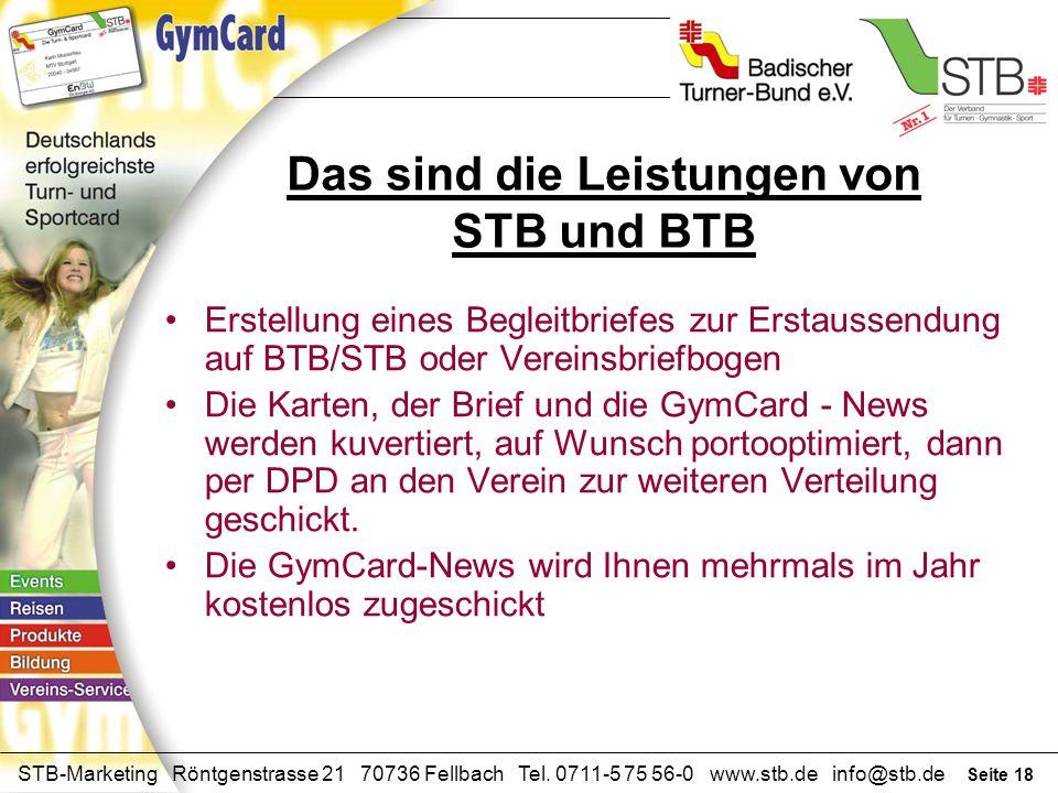 Das sind die Leistungen von STB und BTB