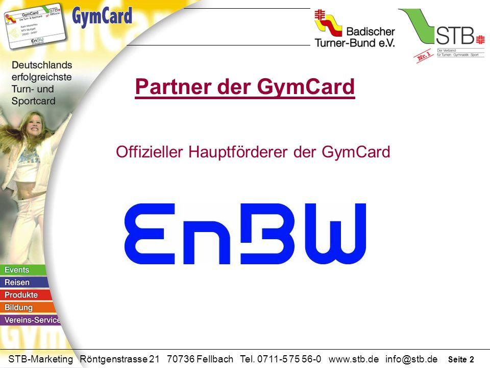 Offizieller Hauptförderer der GymCard