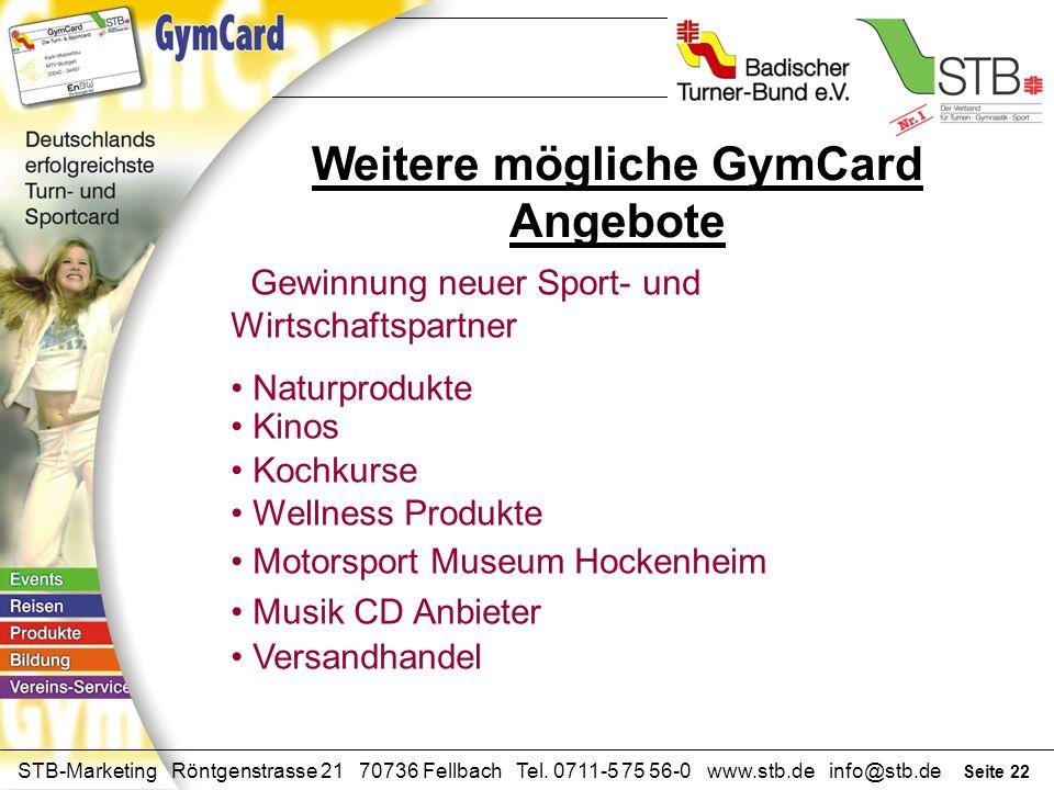 Weitere mögliche GymCard Angebote