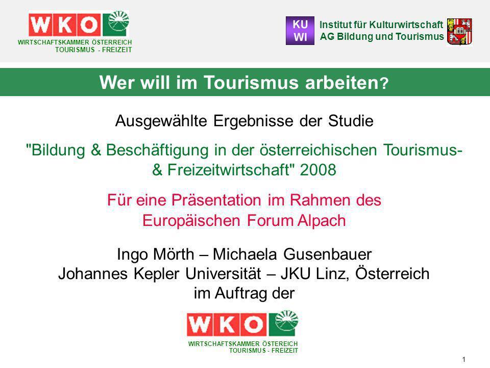 Wer will im Tourismus arbeiten