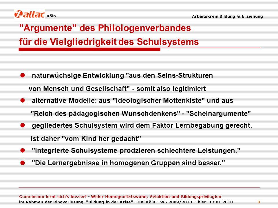Argumente des Philologenverbandes