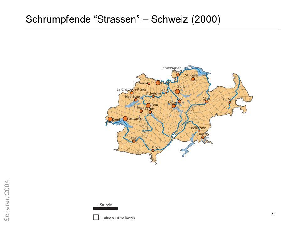 Schrumpfende Strassen – Schweiz (2000)