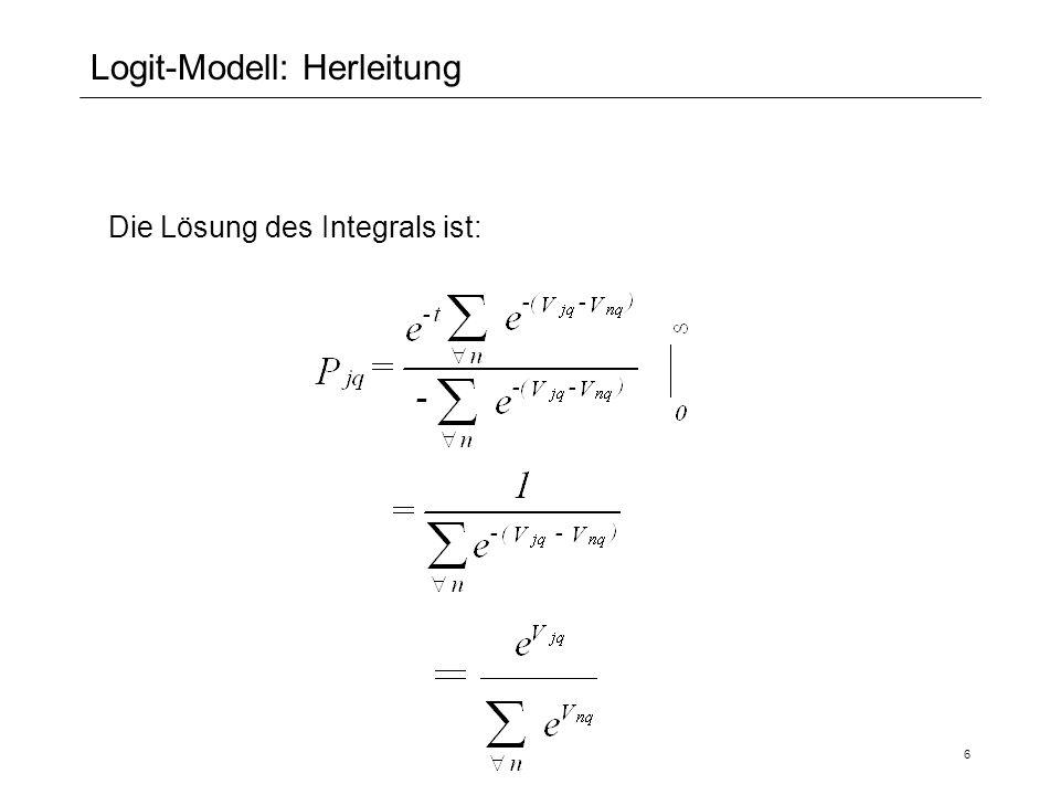 Logit-Modell: Herleitung
