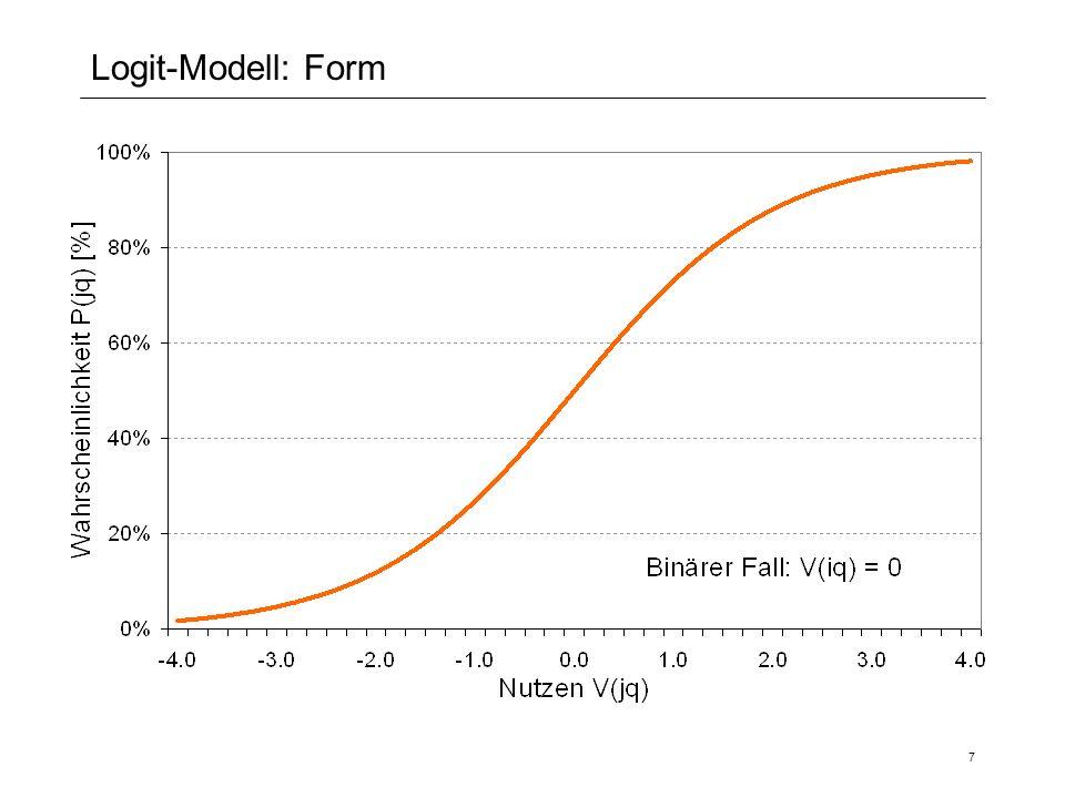 Logit-Modell: Form