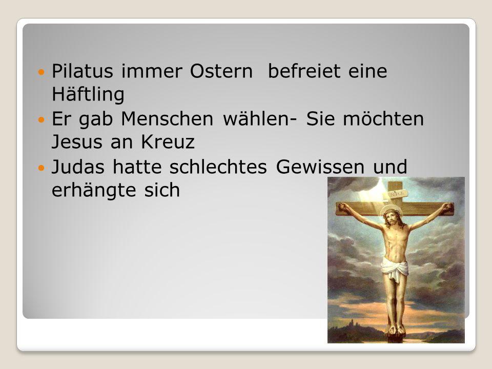 Pilatus immer Ostern befreiet eine Häftling