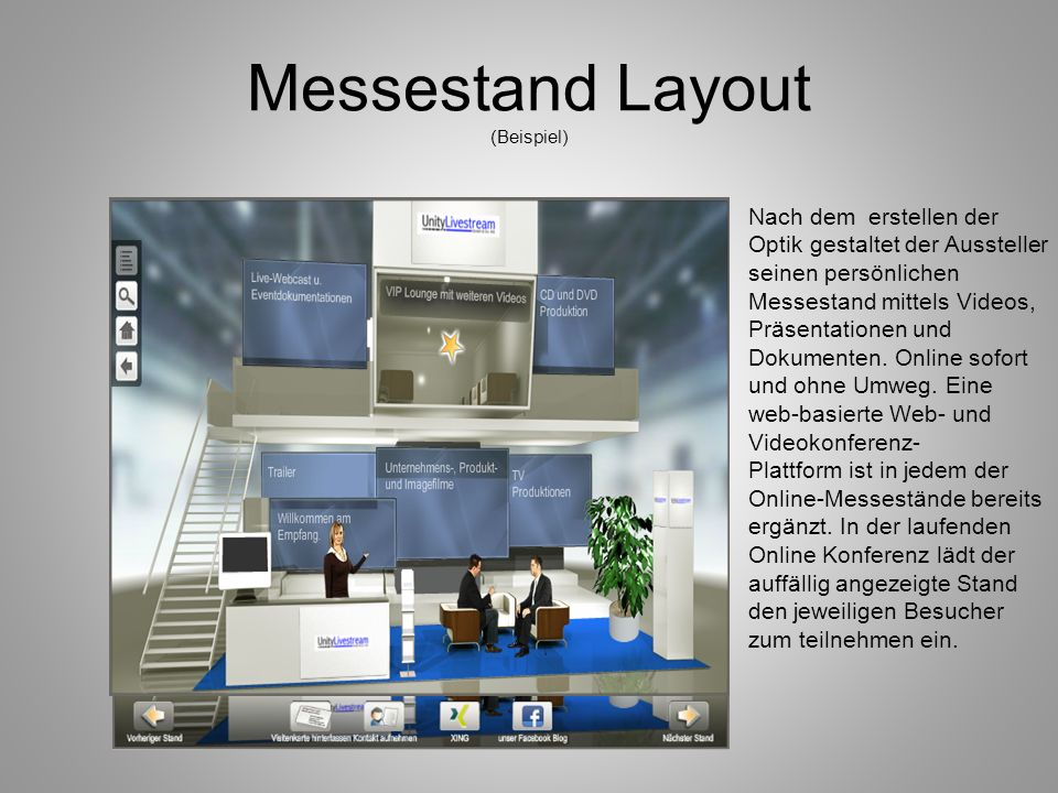 Messestand Layout (Beispiel)