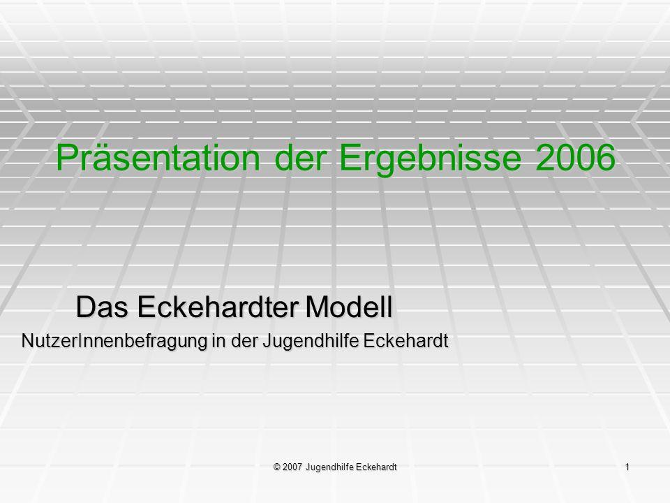 Präsentation der Ergebnisse 2006