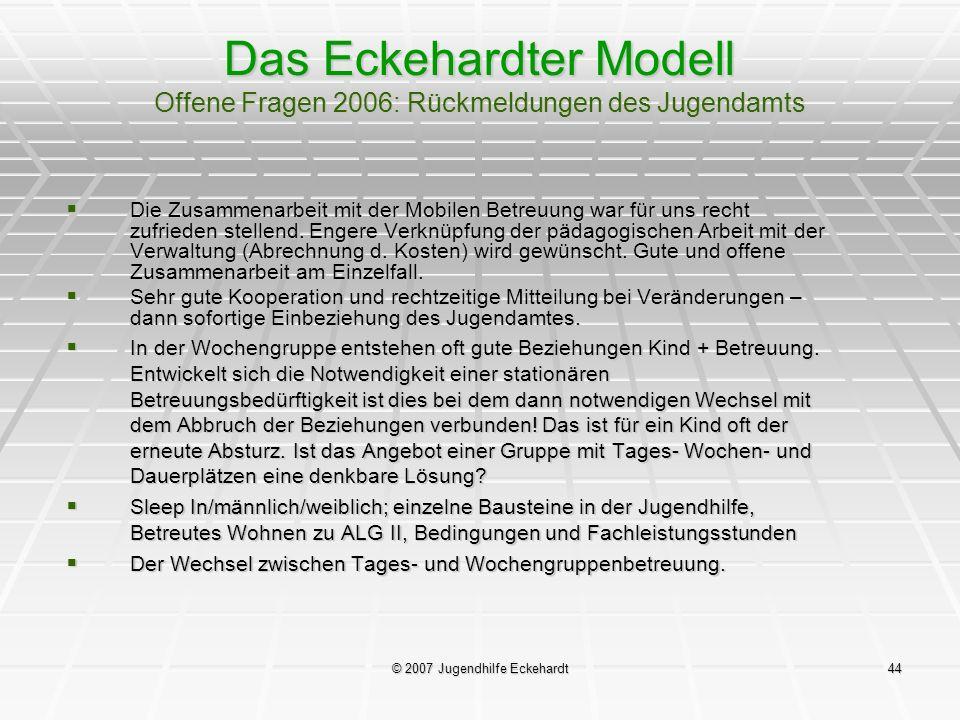 © 2007 Jugendhilfe Eckehardt