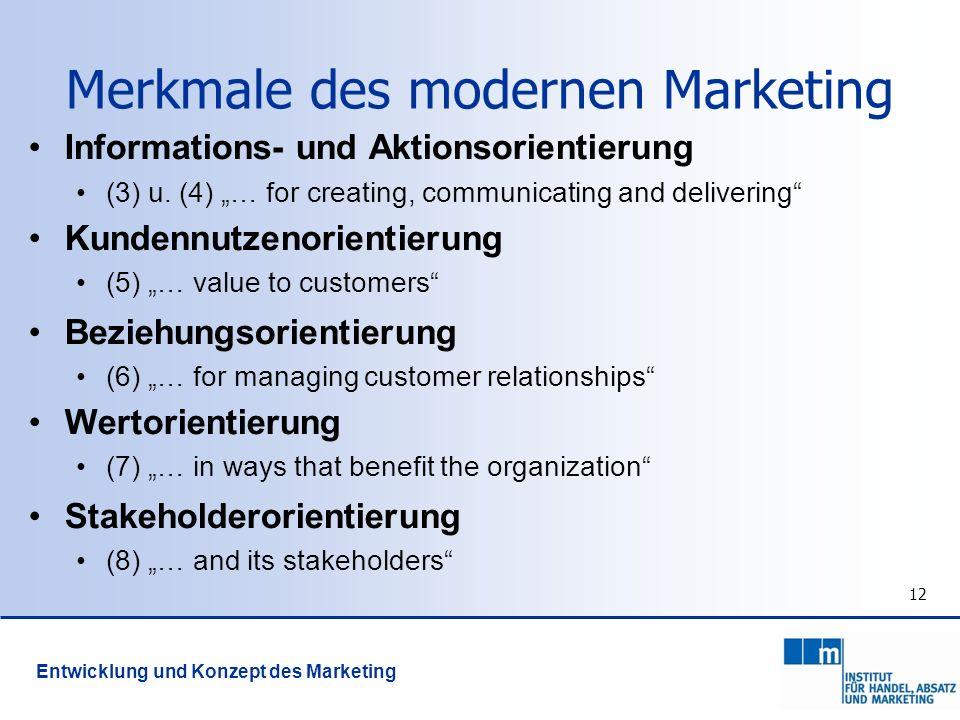 Merkmale des modernen Marketing