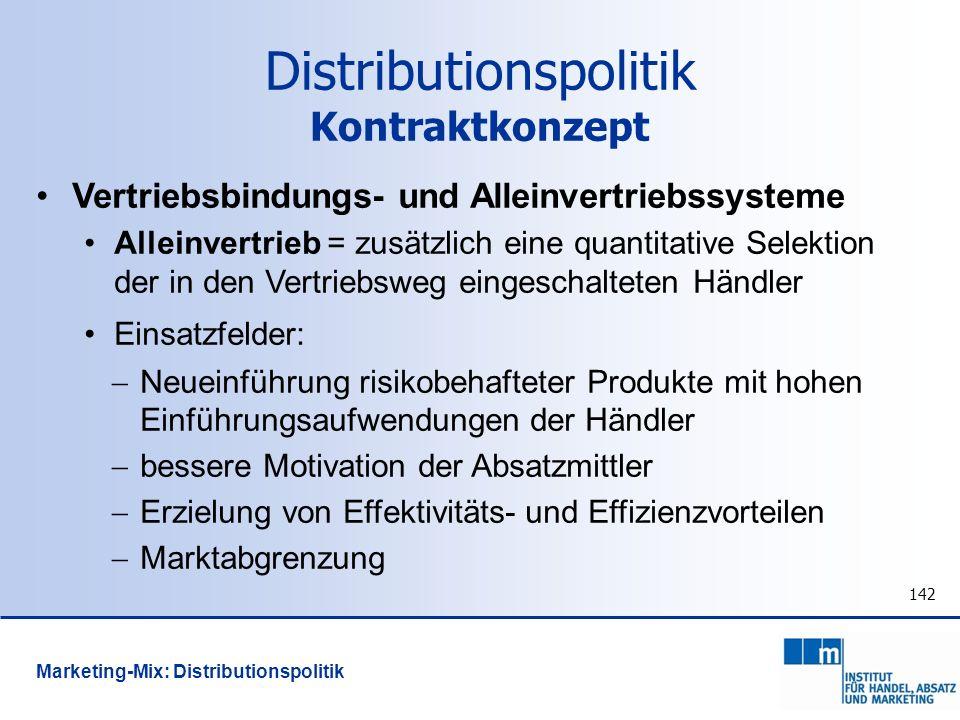 Distributionspolitik Kontraktkonzept