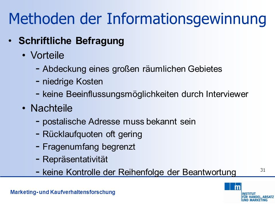 Methoden der Informationsgewinnung