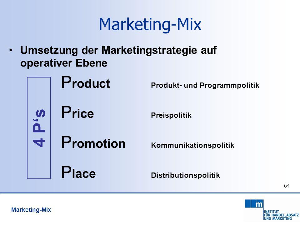 Product Produkt- und Programmpolitik Price Preispolitik