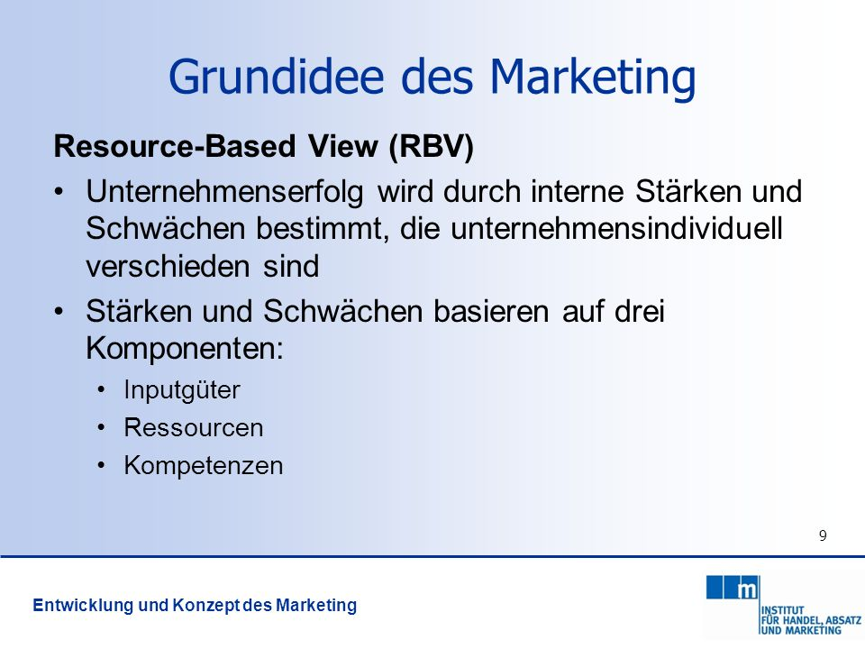 Grundidee des Marketing