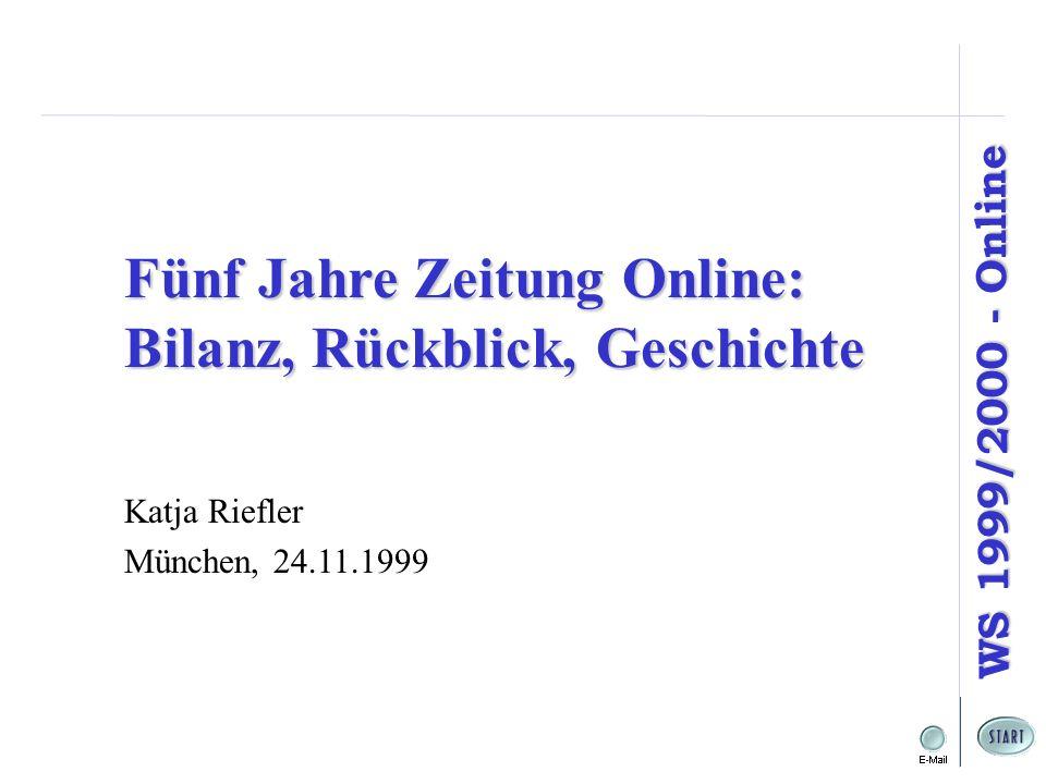Fünf Jahre Zeitung Online: Bilanz, Rückblick, Geschichte