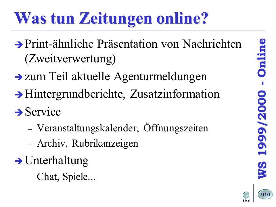 Was tun Zeitungen online