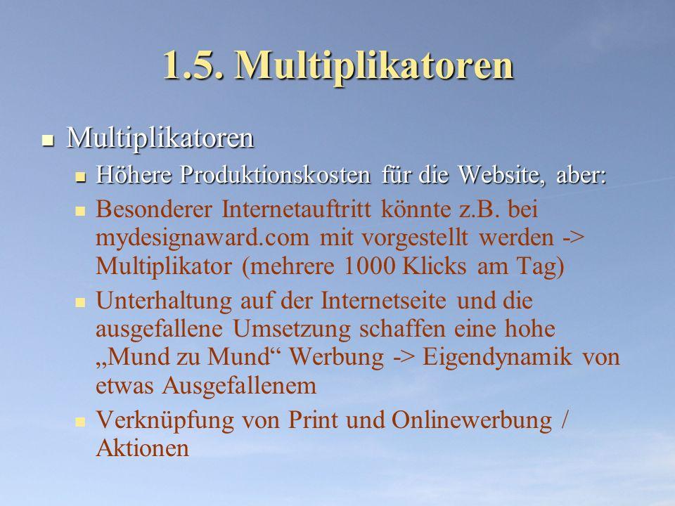 1.5. Multiplikatoren Multiplikatoren
