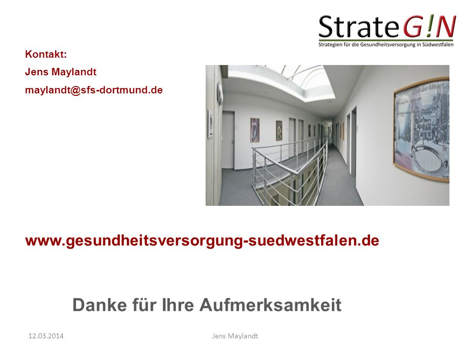 www.gesundheitsversorgung-suedwestfalen.de Kontakt: Jens Maylandt