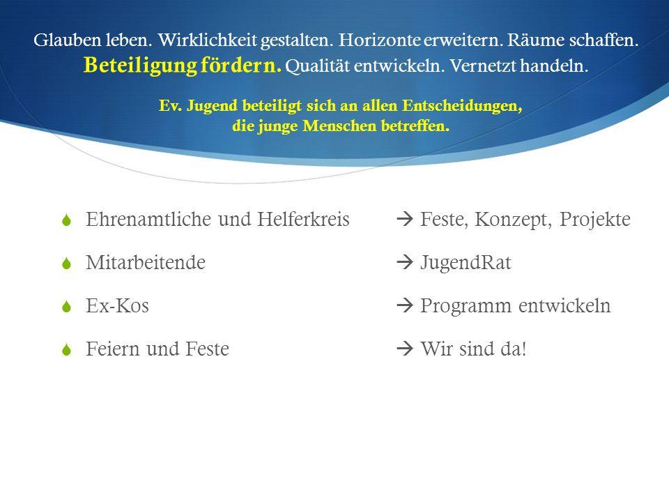 Ehrenamtliche und Helferkreis  Feste, Konzept, Projekte