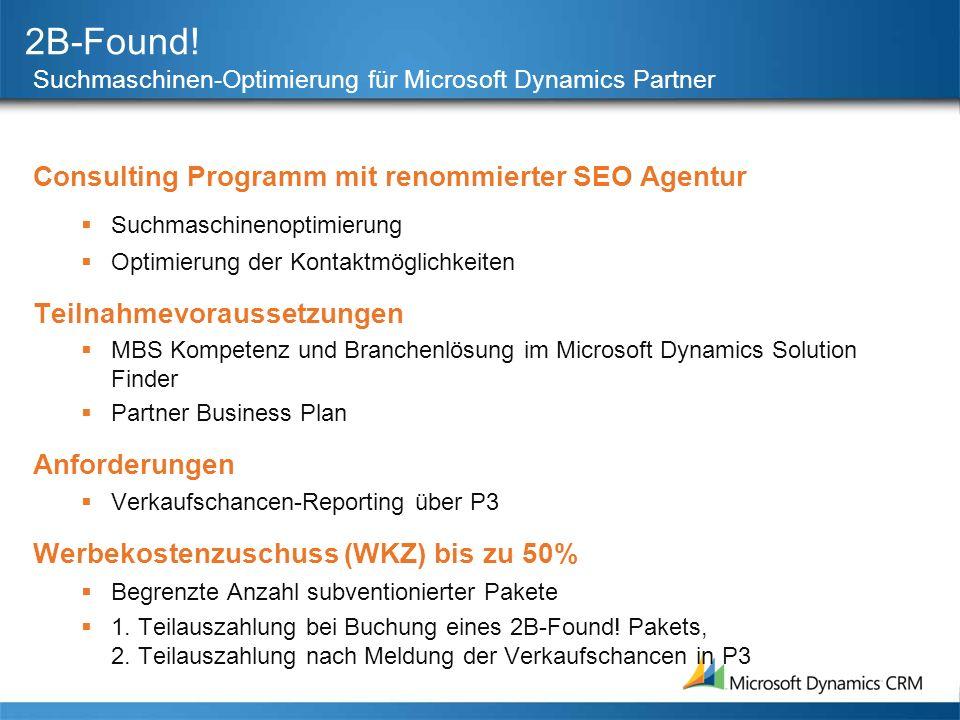 2B-Found! Consulting Programm mit renommierter SEO Agentur