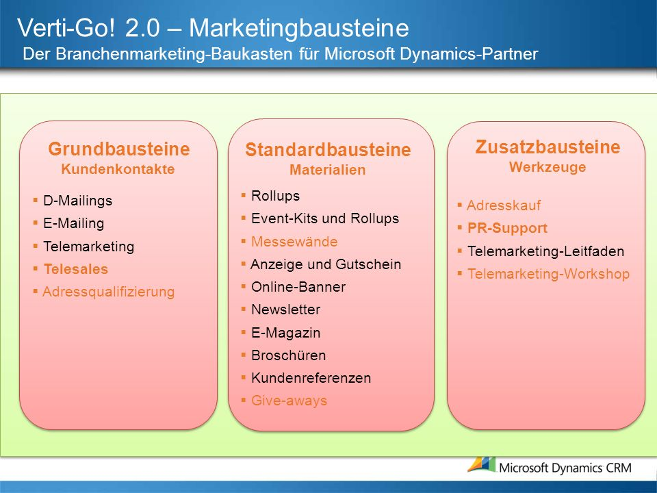 Verti-Go! 2.0 – Marketingbausteine