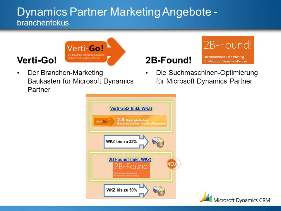 Dynamics Partner Marketing Angebote - branchenfokus