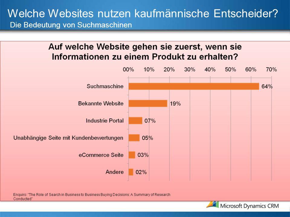 Welche Websites nutzen kaufmännische Entscheider