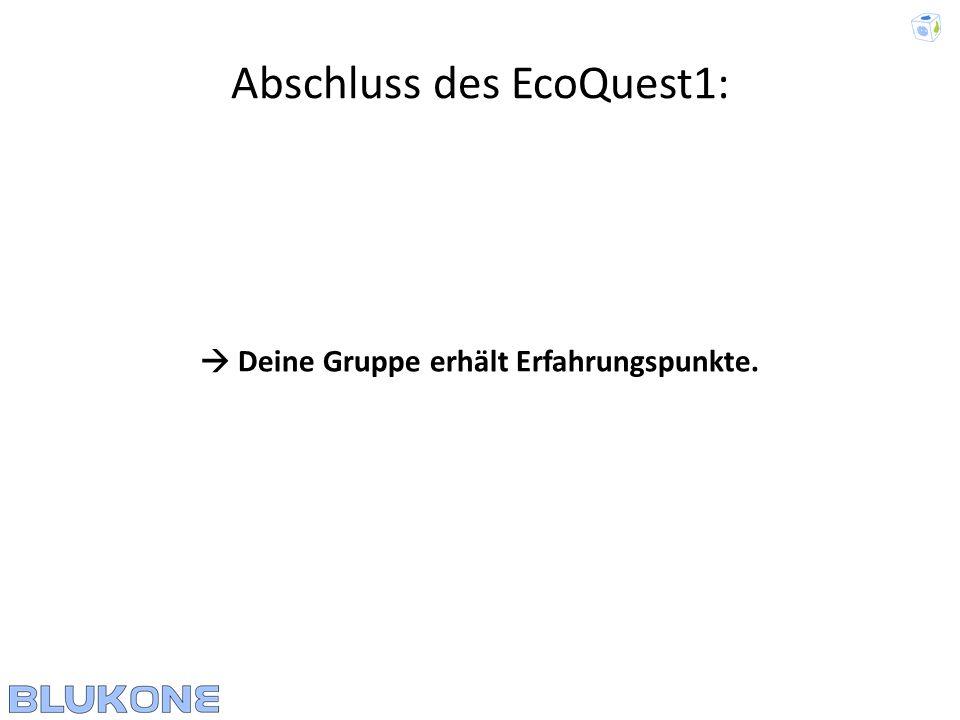 Abschluss des EcoQuest1: