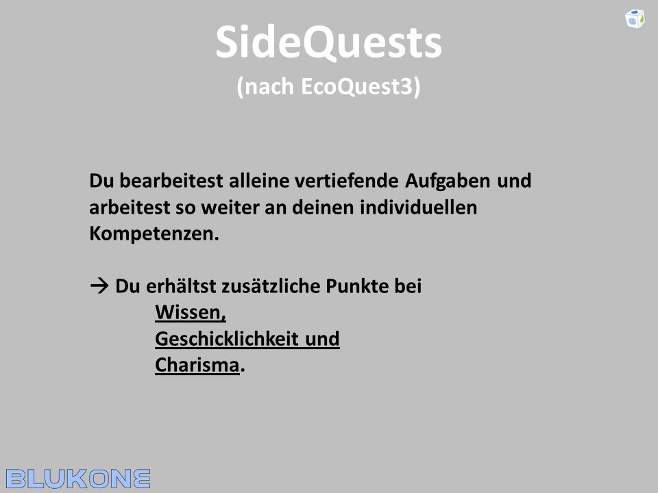 SideQuests (nach EcoQuest3)
