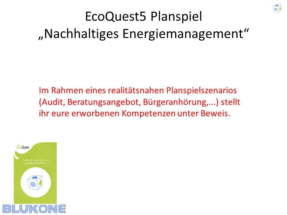 """EcoQuest5 Planspiel """"Nachhaltiges Energiemanagement"""