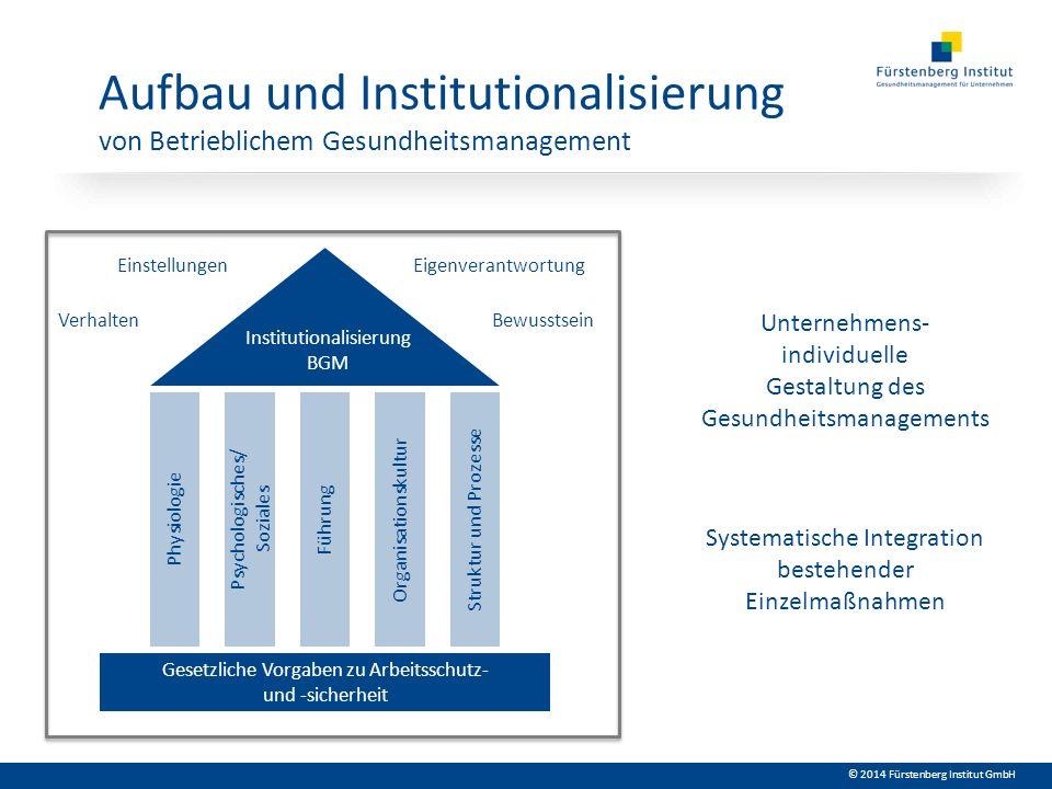 Aufbau und Institutionalisierung von Betrieblichem Gesundheitsmanagement