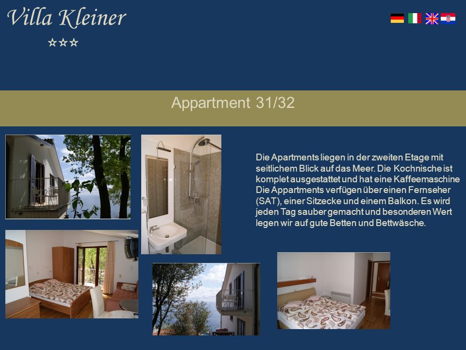 Villa Kleiner *** Appartment 31/32