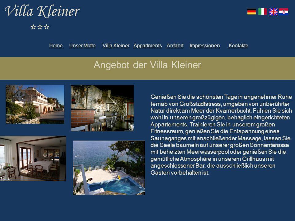 Angebot der Villa Kleiner