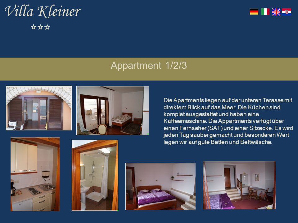 Villa Kleiner *** Appartment 1/2/3