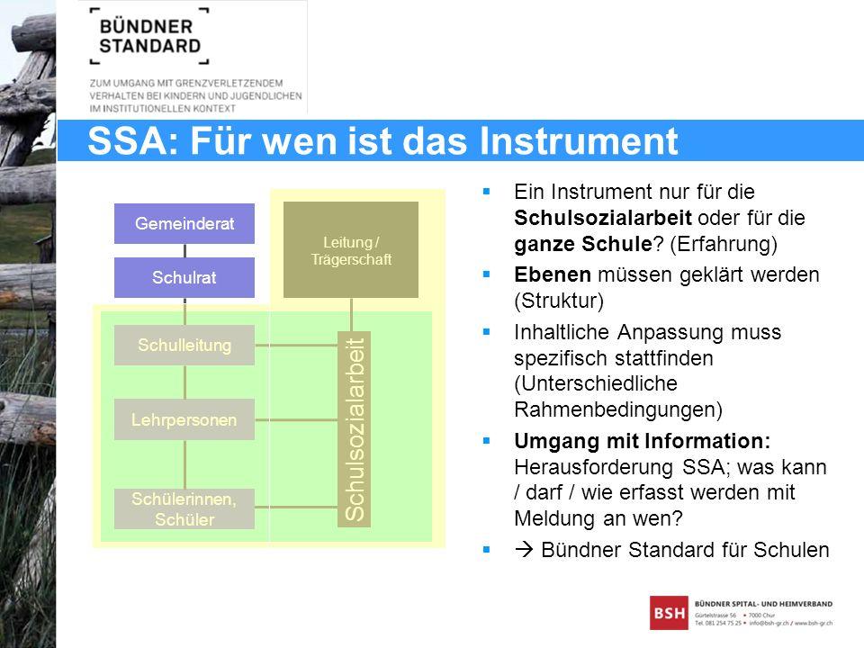 SSA: Für wen ist das Instrument