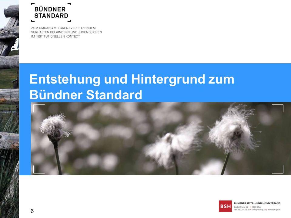 Entstehung und Hintergrund zum Bündner Standard