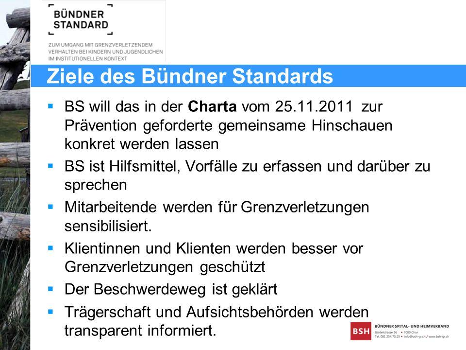 Ziele des Bündner Standards