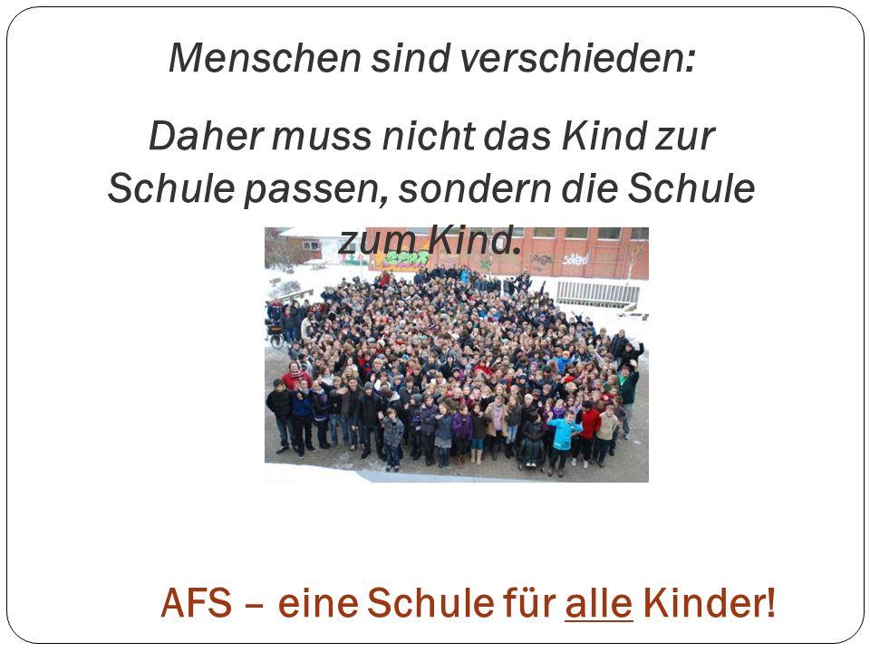 AFS – eine Schule für alle Kinder!