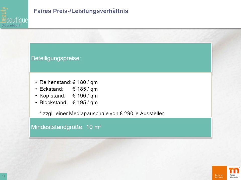 Faires Preis-/Leistungsverhältnis